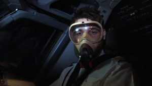 pilot with oxygen mask